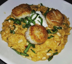 Heirloom Seminole Pumpkin Risotto with Scallops