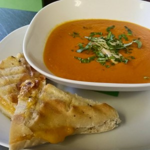 Grilled Cheese using House Baked Bread & Tomato Soup